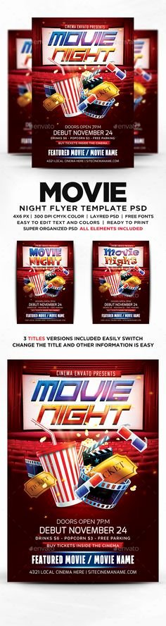 Movie Night Flyer Template Lovely 33 Awesome Movie Night Template Flyer Free Images
