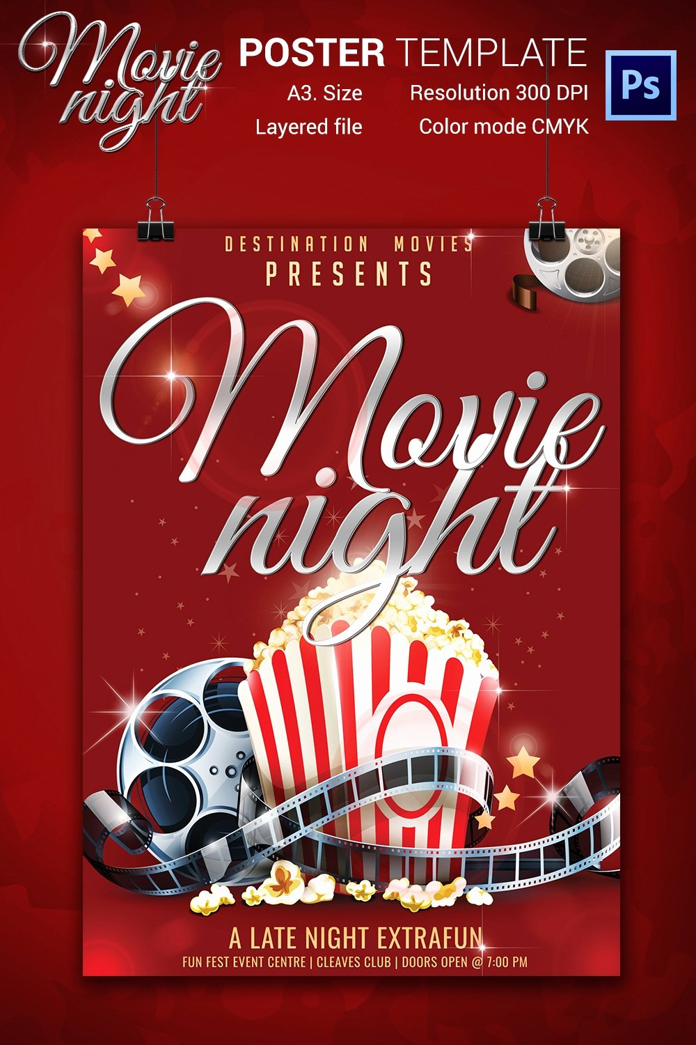 Movie Night Flyer Template Lovely Movie Night Flyer Template 25 Free Jpg Psd format
