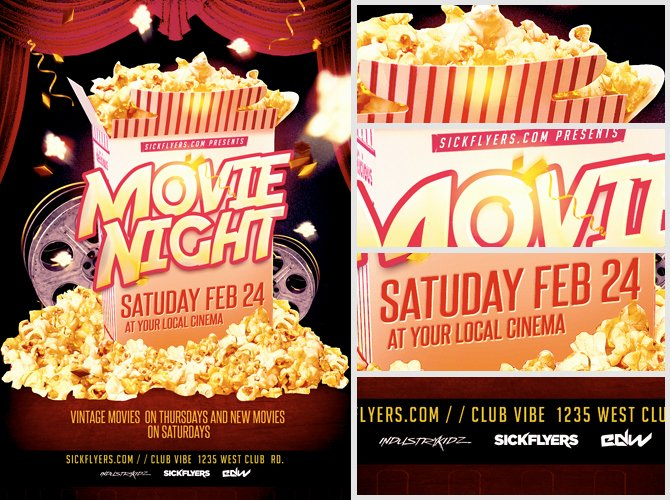 Movie Night Flyer Template Lovely Movie Night Flyer Template Flyerheroes