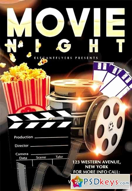 Movie Night Flyer Template Luxury Movie Night Flyer Psd Template Cover 2 Free