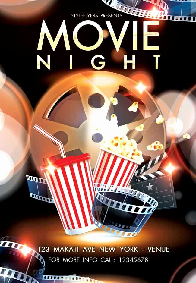 Movie Night Flyer Template New 25 Free Stylish Psd Flyers Template Designmaz