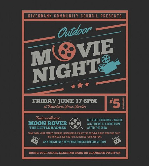 Movie Night Flyer Template Unique Night Party Flyer Templates 27 Free Psd Ai Eps format