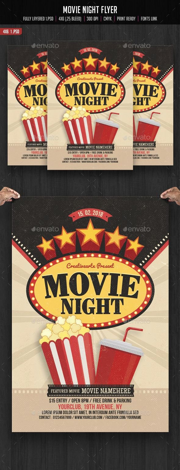 Movie Night Flyer Templates Awesome 17 Best Images About Flyers Posters On Pinterest