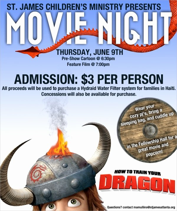 Movie Night Flyer Templates Beautiful Movie Night Flyer Template 17 Download In Vector Eps