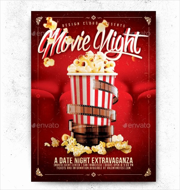 Movie Night Flyer Templates Fresh Movie Night Flyer Template 17 Download In Vector Eps