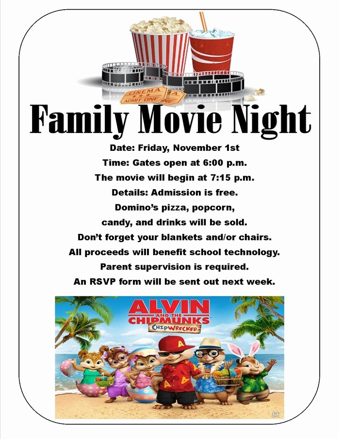 Movie Night Flyer Templates Lovely Outdoor Movie Night Flyer Template