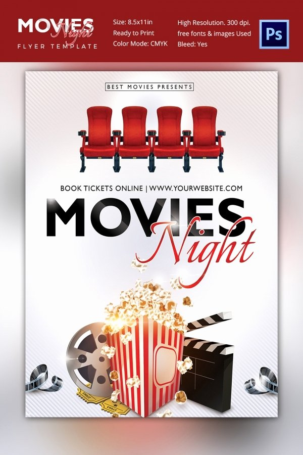 Movie Night Flyer Templates Luxury Movie Poster Templates – 44 Free Psd format Download