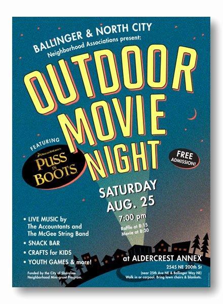 Movie Night Flyer Templates Luxury Outdoor Movie Night Flyer