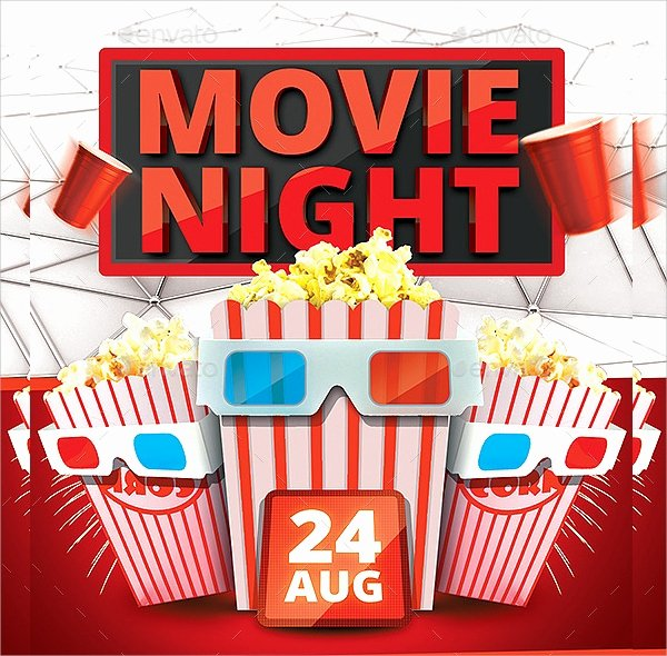 Movie Night Flyer Templates New Movie Night Flyer Template 17 Download In Vector Eps