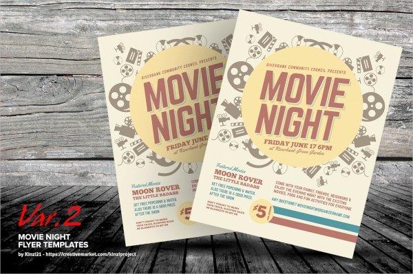 Movie Night Flyer Templates Unique 18 Movie Flyers Psd Vector Eps Word