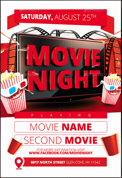 Movie Night Flyer Templates Unique Church Brochure Template