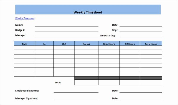 Multiple Employee Timesheet Template Awesome 15 Time Card Calculator Templates