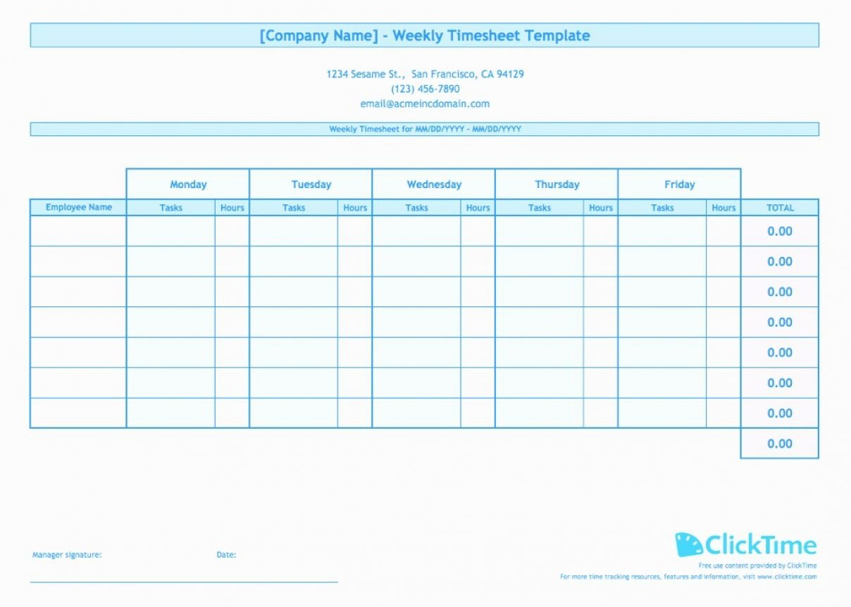 Multiple Employee Timesheet Template Beautiful Employee Hour Tracking Template Tracking Spreadshee