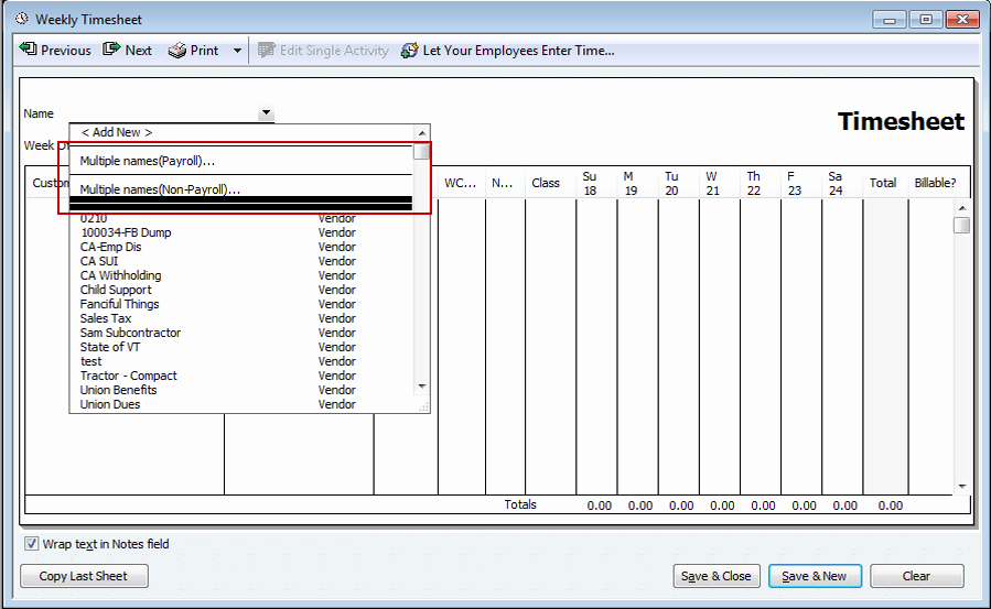 Multiple Employee Timesheet Template Inspirational Quickbooks 2012 – New Batch Timesheet Creation