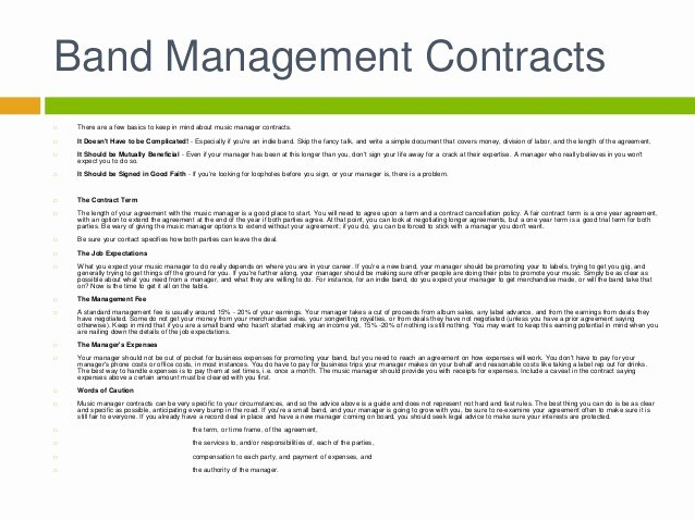 Music Artist Contract Template New Music Contract Template