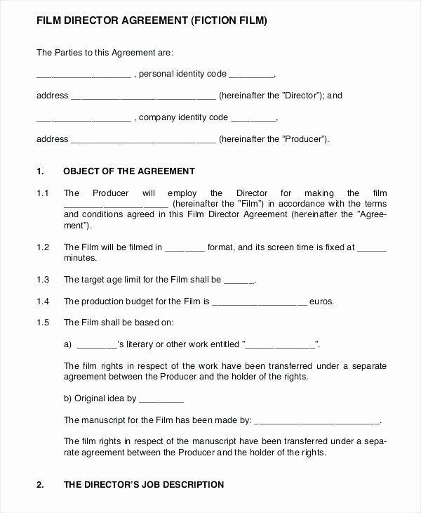 Music Producer Contract Template Best Of 7 Production Contract Examples Pdf