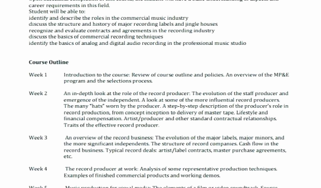 Music Producer Contract Template Lovely Music Producer Business Plan – Record Pany Business
