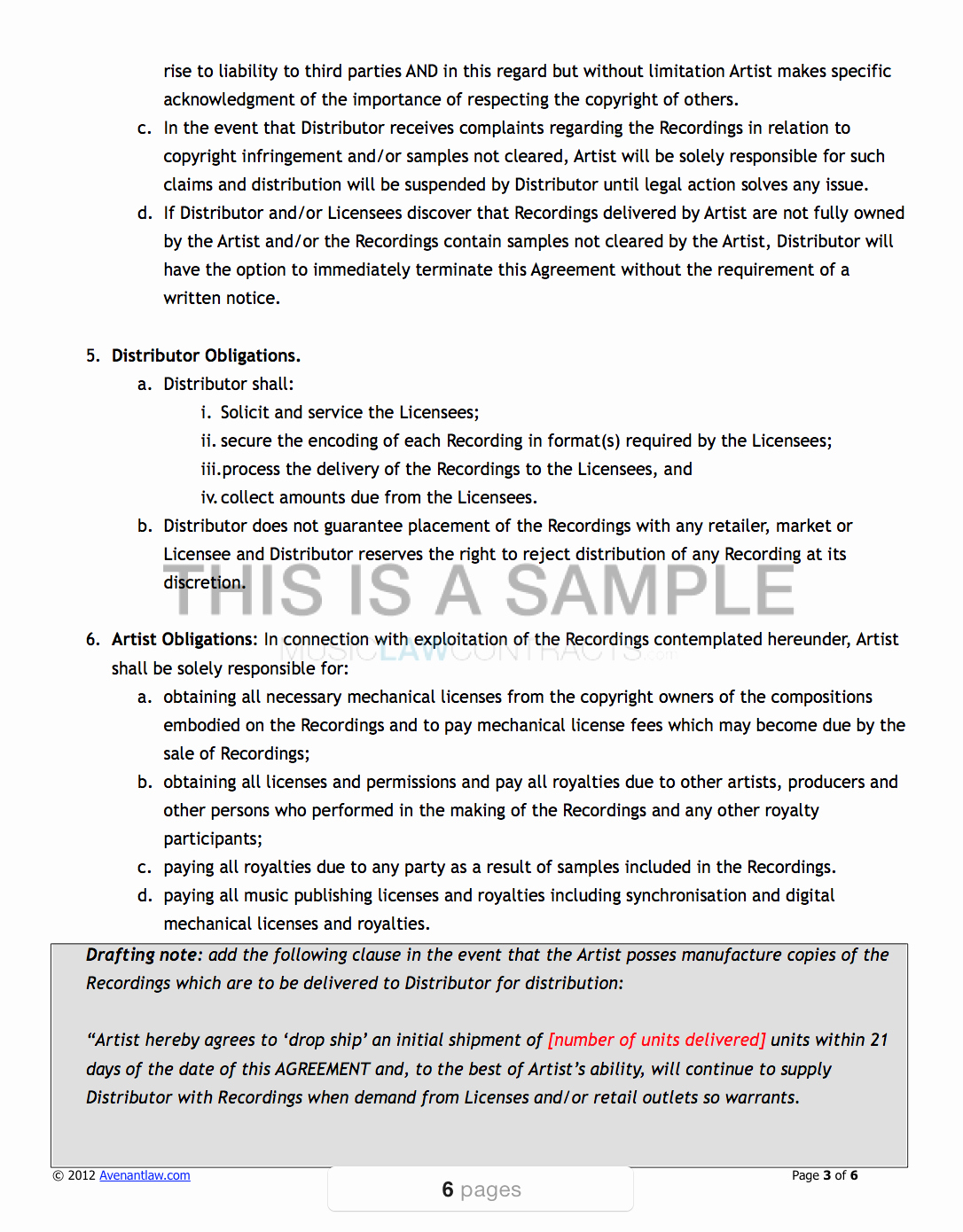 Music Producer Contract Template New All In E Music Contract Pack