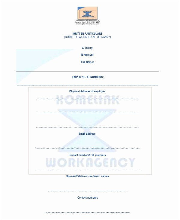 Nanny Contract Template Word Lovely 12 Nanny Contract Templates Word Docs