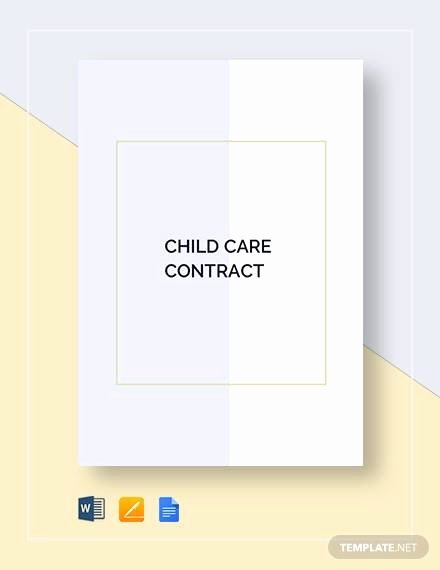 Nanny Contract Template Word New Sample Nanny Contract 10 Examples In Word Pdf