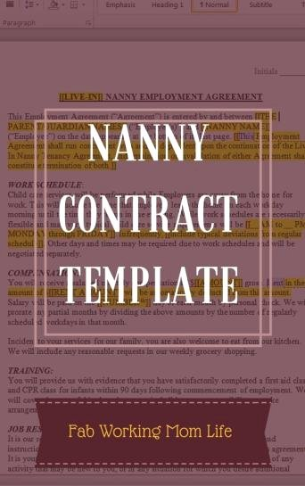 Nanny Contract Template Word Unique What Important Details to Include In A Nanny Contract