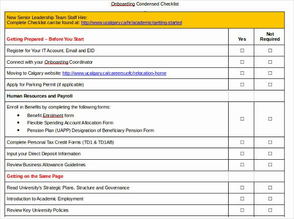 New Hire Checklist Template Excel Fresh 11 Boarding Checklist Samples and Templates Pdf Word