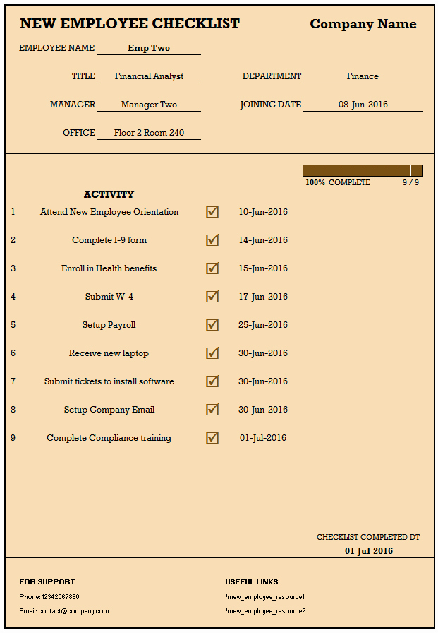 New Hire Checklist Template Excel Lovely Checklist for New Hire New Employee Checklist Excel