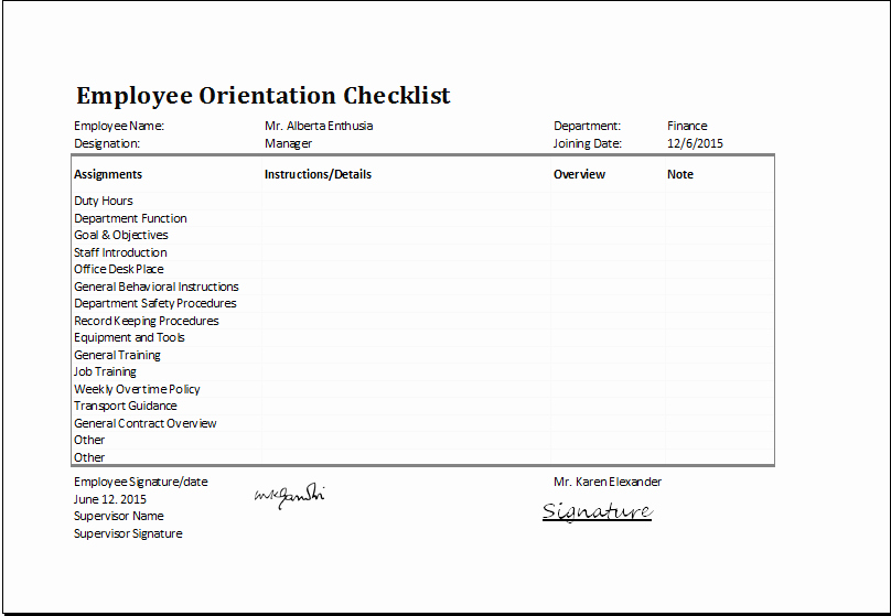 New Hire Checklist Template Excel Lovely Ms Excel Employee orientation Checklist Editable Template