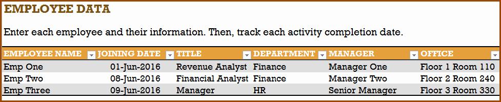 New Hire Checklist Template Excel Unique Checklist for New Hire New Employee Checklist Excel