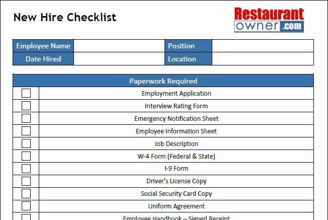 New Hire Checklist Template Excel Unique New Hire Checklist Template