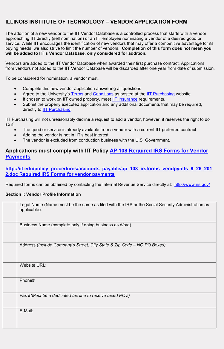 New Vendor form Template Awesome 9 Printable Blank Vendor Registration form Templates for