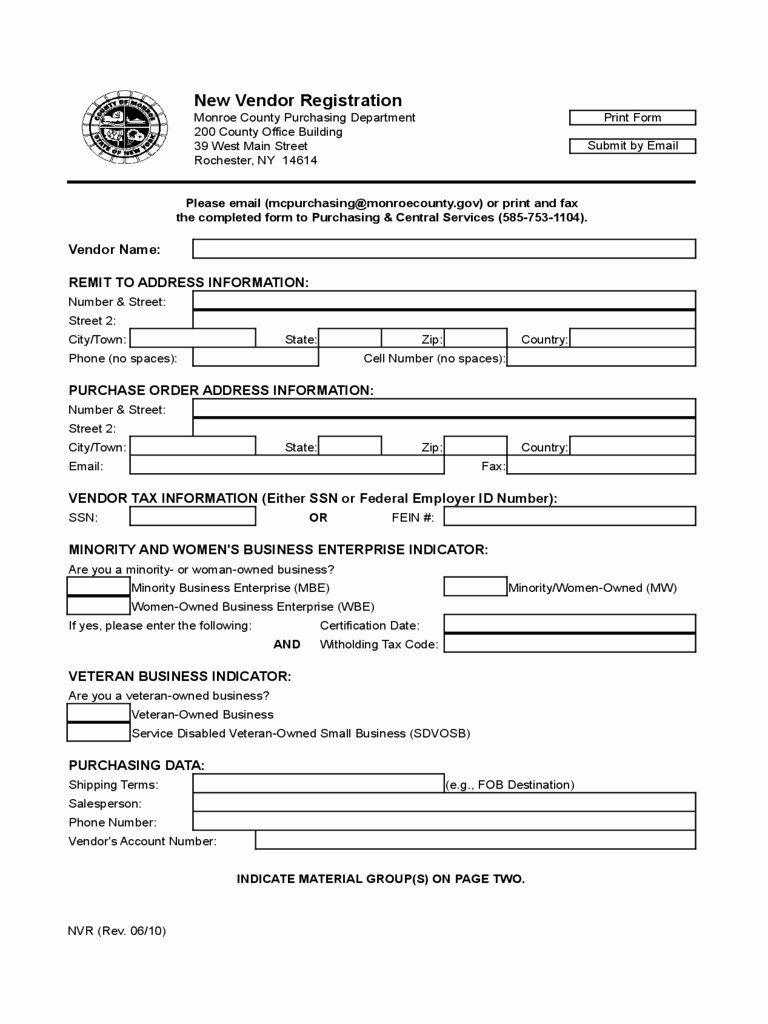 New Vendor form Template Fresh Vendor Information form Template Excel