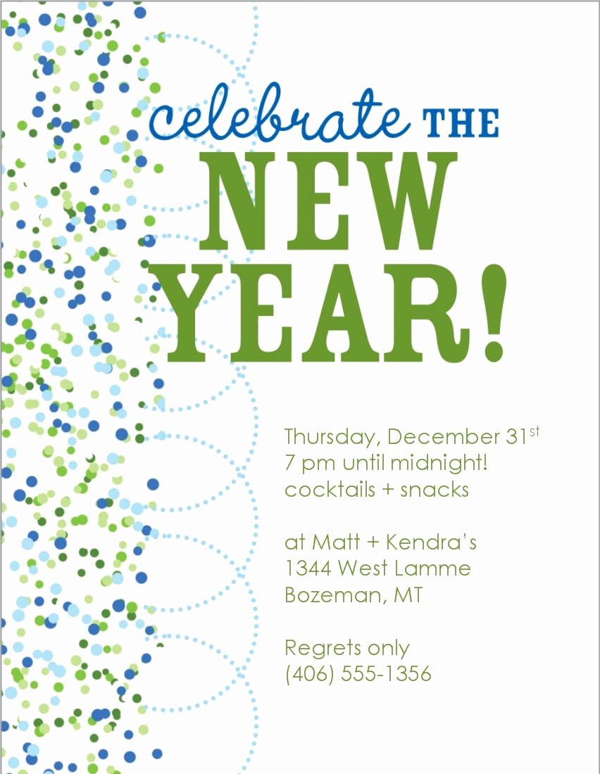New Years Eve Invitations Templates Awesome New Years Eve Invitations Free