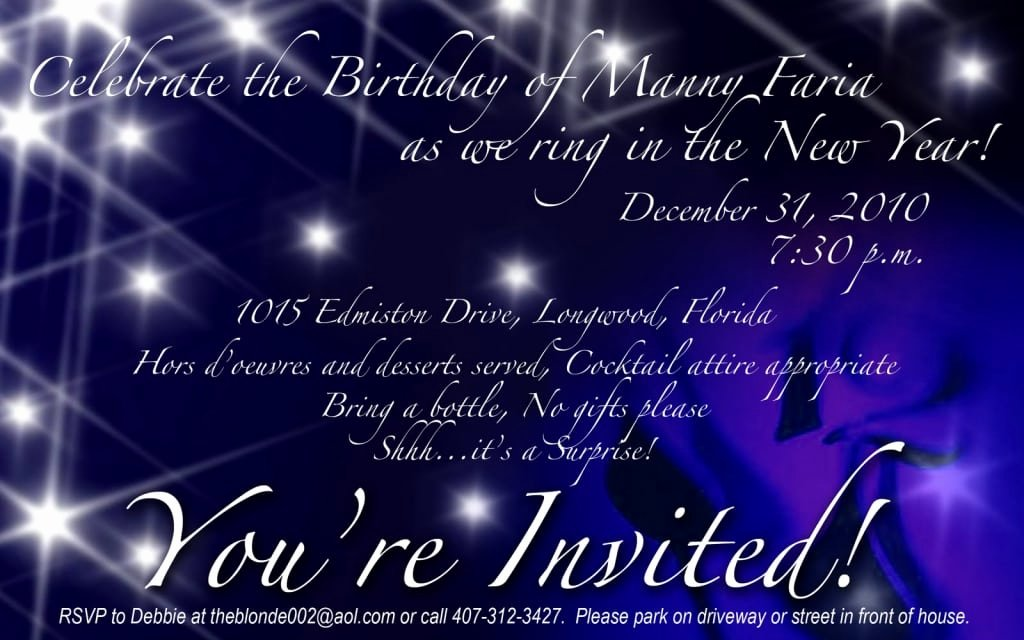New Years Eve Invitations Templates Awesome New Years Eve Party Invitation