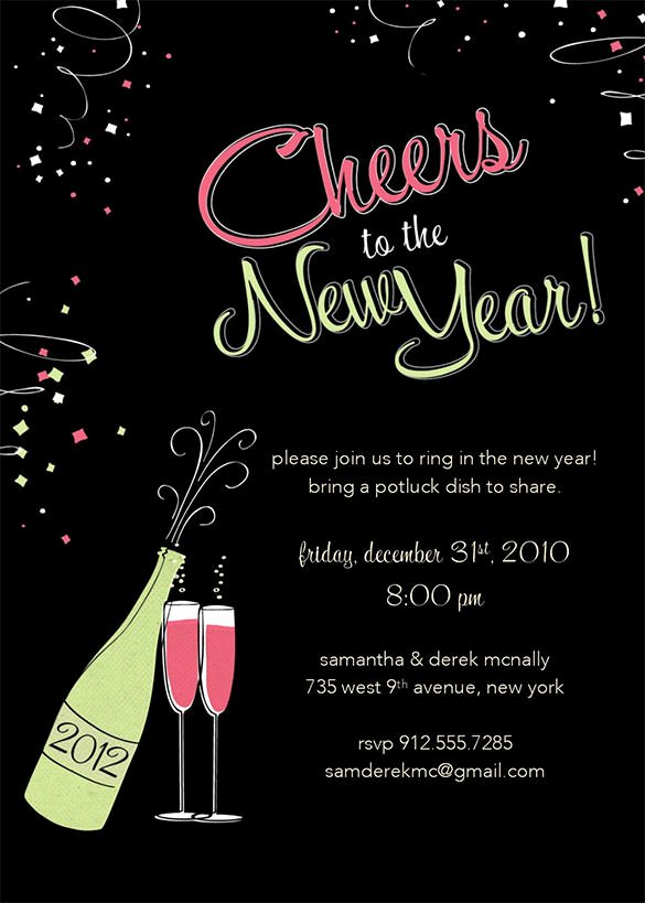 New Years Eve Invitations Templates Beautiful 28 New Year Invitation Templates – Free Word Pdf Psd