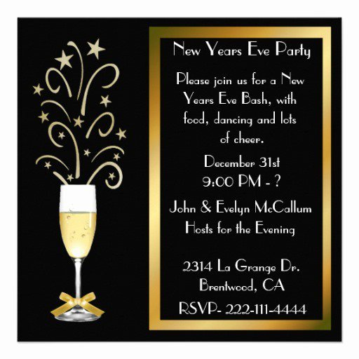 New Years Eve Invitations Templates Beautiful New Year S Eve Party Invitations Wording