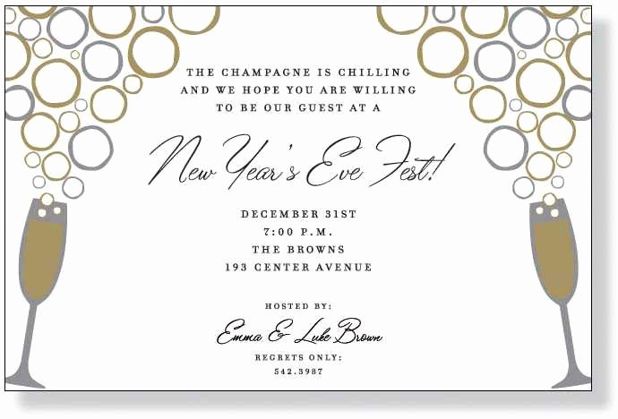 New Years Eve Invitations Templates Beautiful Nye Party Invitation