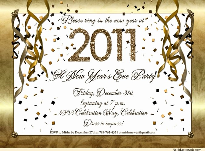 New Years Eve Invitations Templates Elegant New Year Invitation Template