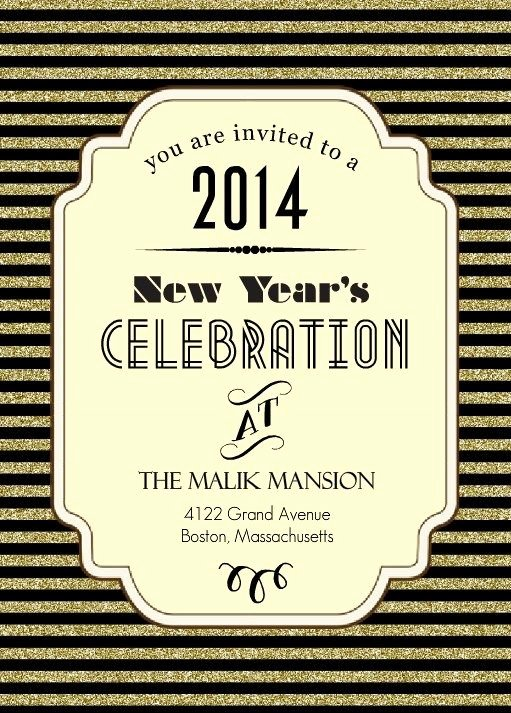 New Years Eve Invitations Templates Elegant Roaring Twenties New Year S Eve Party Invitation by
