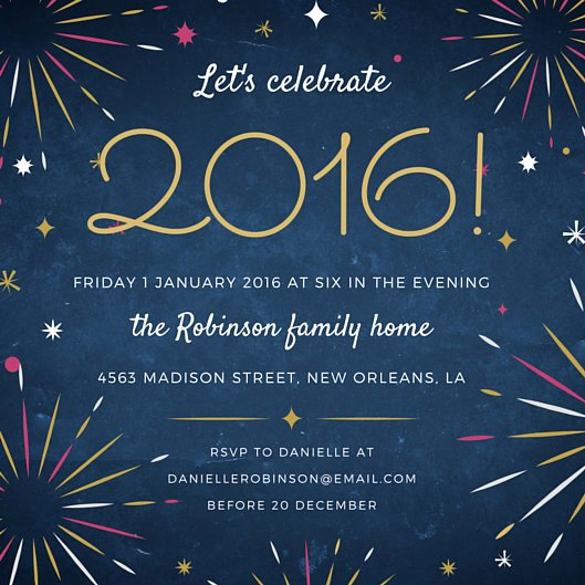 New Years Eve Invitations Templates Inspirational Fireworks New Year S Eve Party Invitation Templates by Canva