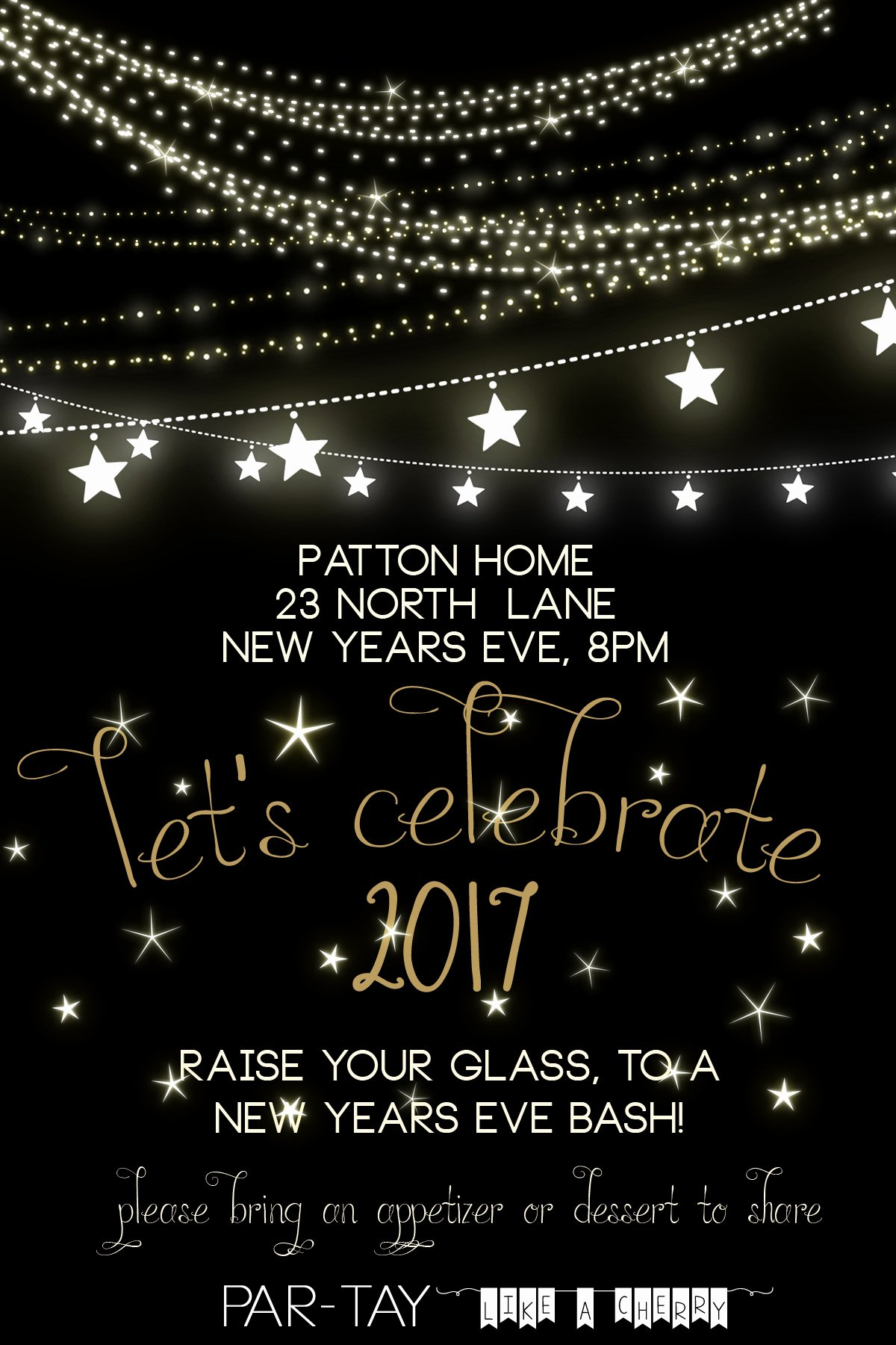 New Years Eve Invitations Templates Inspirational Free New Years Party Invitation Party Like A Cherry