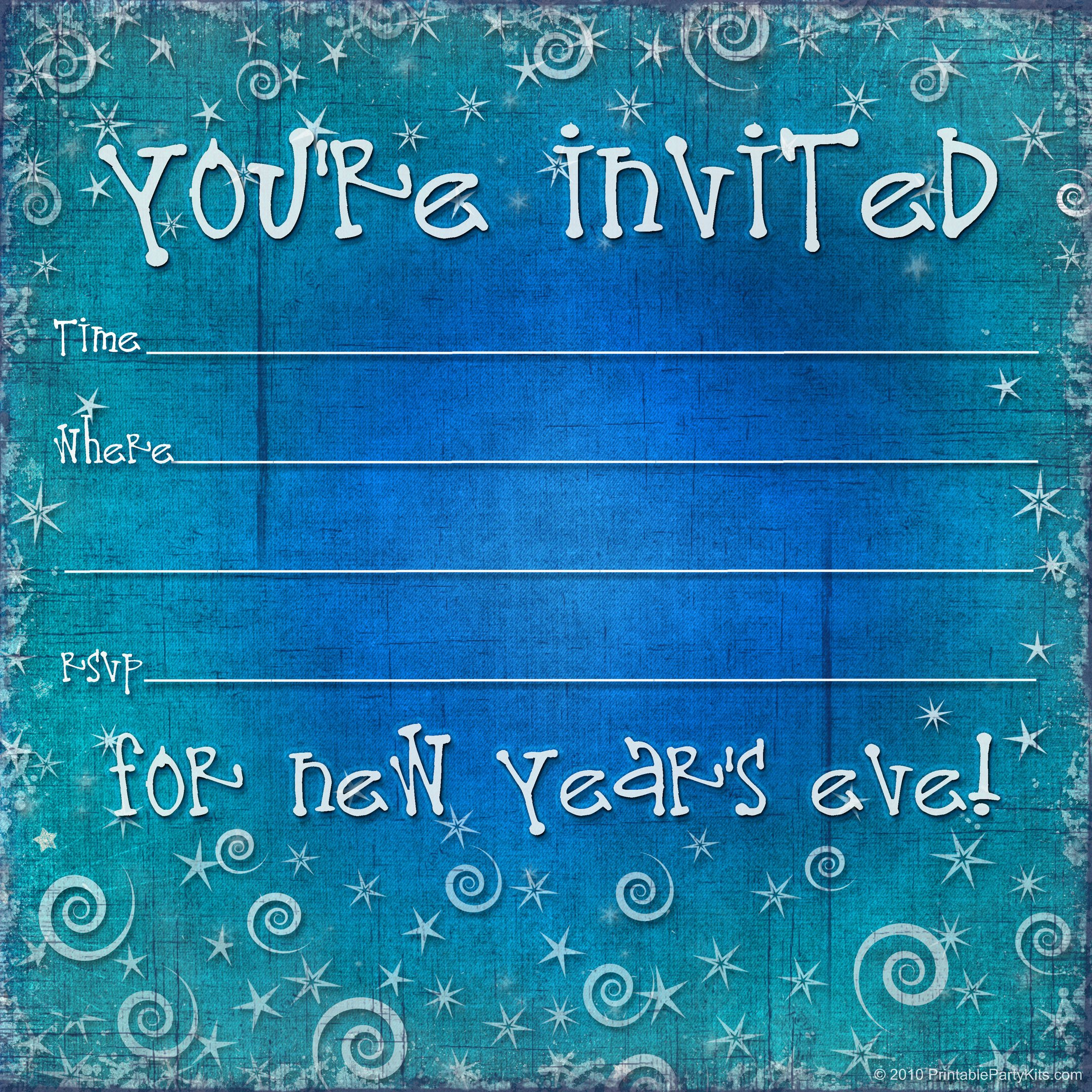 New Years Eve Invitations Templates Inspirational Free Printable New Years Eve Party Invitation Template
