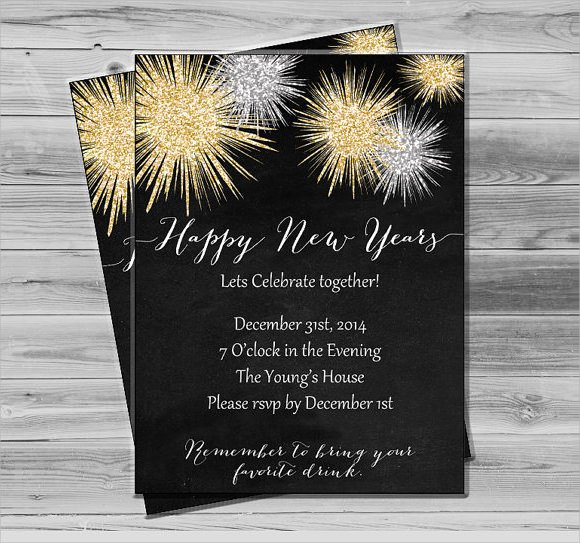 New Years Eve Invitations Templates Inspirational Sample New Year Invitation Templates 24 Download