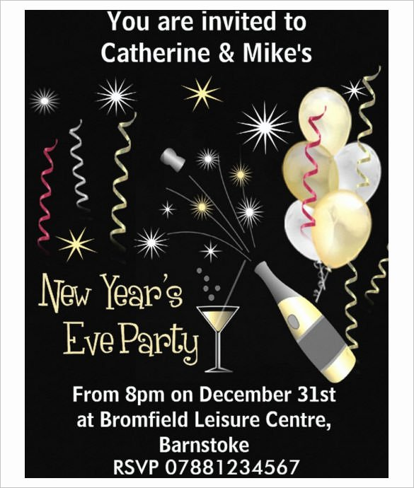 New Years Eve Invitations Templates Lovely 28 New Year Invitation Templates – Free Word Pdf Psd