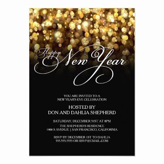 New Years Eve Invitations Templates Luxury Happy New Year S Eve Party Invitation