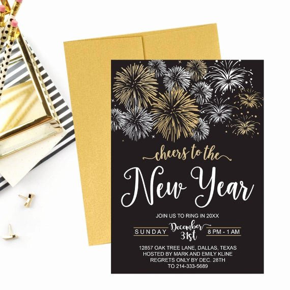 New Years Eve Invitations Templates Luxury New Year S Eve Party Invitation Template Elegant Black