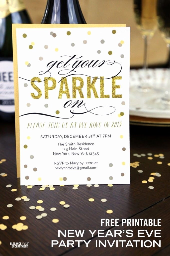 New Years Eve Invitations Templates New Free Printable New Year S Eve Party Invitation