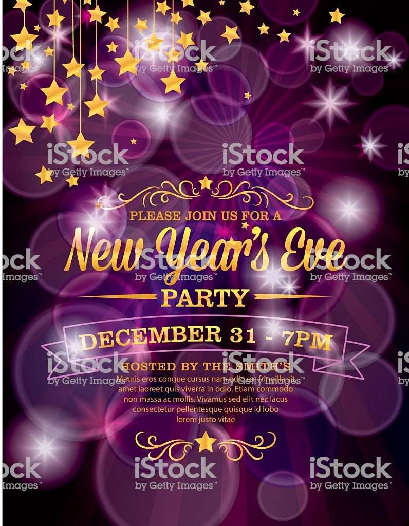 New Years Eve Invitations Templates New New Years Eve Party Invitation Template Stock Vector Art