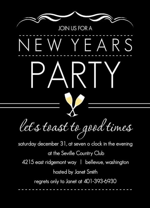 New Years Eve Invitations Templates Unique New Year Invitation Template