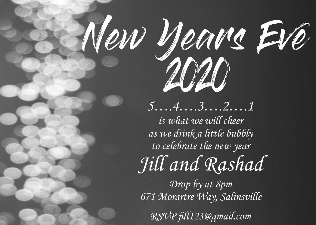 New Years Eve Invitations Templates Unique New Year S Eve Party Invitations 2019
